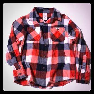 Boys size 8 flannel print shirt